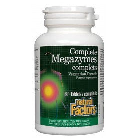 Natural Factors Complete Megazymes Vegetarian Formula 90 Tablets