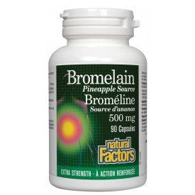 Natural Factors Bromelain Extra Strength 500mg 90 Capsules