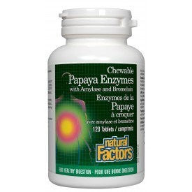 Natural factors Papaya Enzyme 120 Chew Tabs