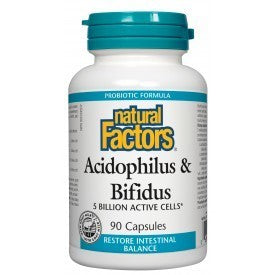 Acidophilus & Bifidus 5 Billion Active Cells 90 Caps