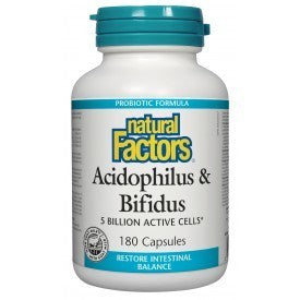 Acidophilus & Bifidus 5 Billion Active Cells 180 Caps