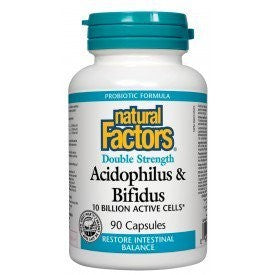 Acidophilus & Bifidus Double Strength 10 Billion Active Cells 90 Caps