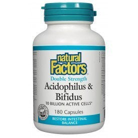 Natural factors Acidophilus & Bifidus D.S. 10 Billion Active Cells