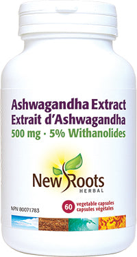 New Roots Ashwagandha Extract 60 Vegetable Capsules