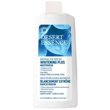Desert Essence Mouthwash Tea Tree Whitening Plus 480ml
