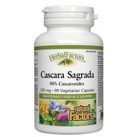 Natural Factors Cascara Sagrada 250mg 90 VCapsules
