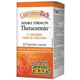 Natural Factors CurcuminRich™ Theracurmin® Double Strength 60mg 60 VCapsules
