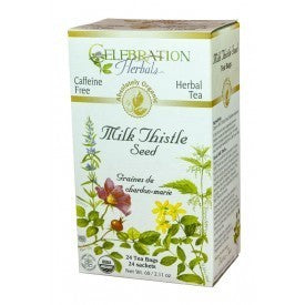 Celebration Herbals Milk Thistle Seed Tea Organic 24 Bags