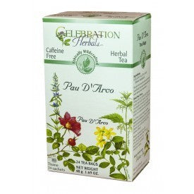 Celebration Herbals Pau D'Arco Inner Bark Tea Wild Crafted 24 Bags