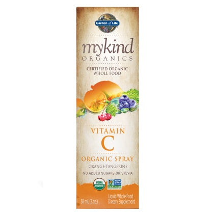 mykind Organics-Vitamin C Spray Orange-Tangerine 58mL