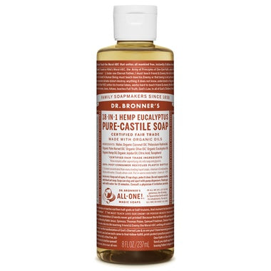 Pure Castile Liquid Soap Eucalyptus 237ml