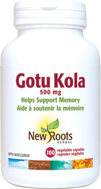 New Roots Gotu Kola 500mg 100 v caps