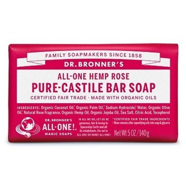 Castile Bar Soap Rose 142g