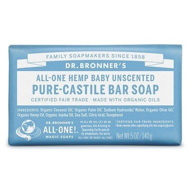 Castile Bar Soap Unscented 142g