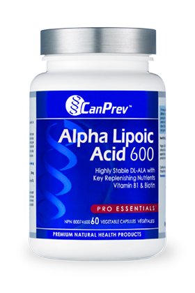 CanPrev Alpha Lipoic Acid 600mg 60 Vegetable Capsules