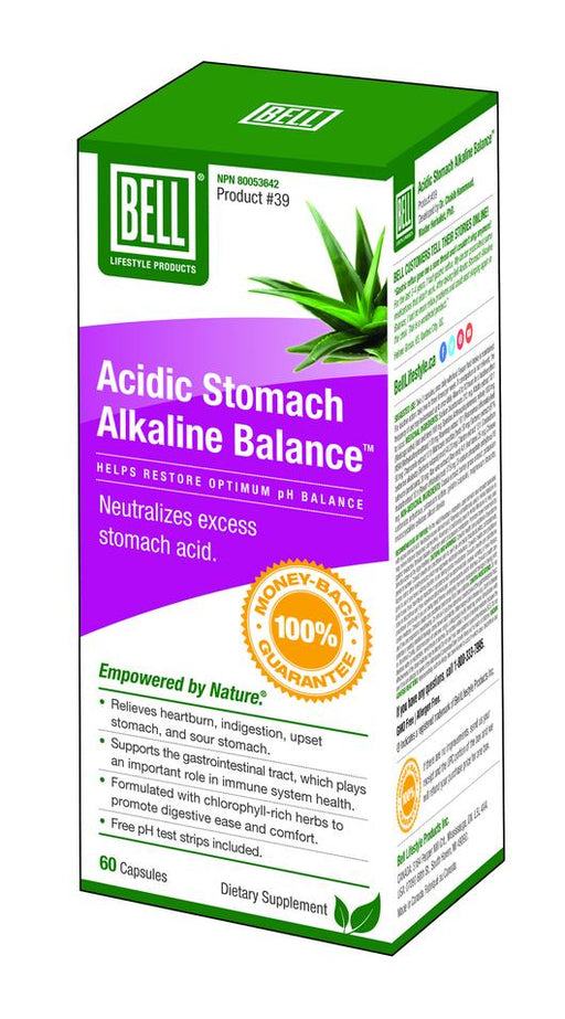 Bell Acidic Stomach Alkaline Balance 60 Caps