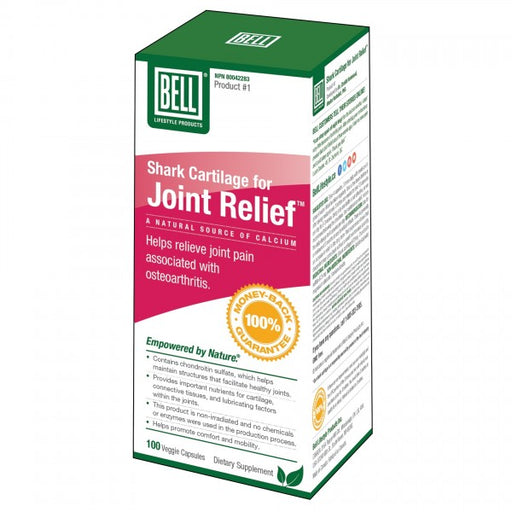 Bell Shark Cartilage for Joint Relief 100 Veggie Capsules