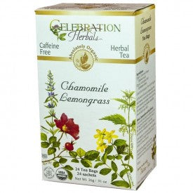 Celebration Herbals Citrus Soother Organic 24 Bags (Chamomile Lemongrass)