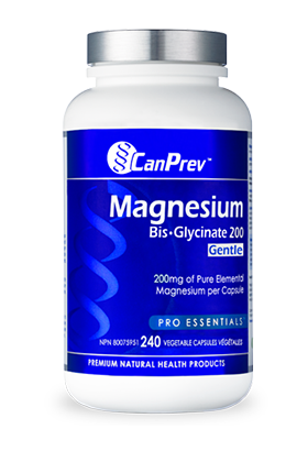 CanPrev Magnesium Bis-Glycinate 200mg Gentle 240 Vegetable Capsules