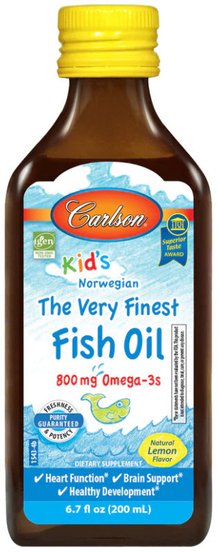 Carlson Kid's The Very Finest Fish Oil 200ml (800mg Omega-3)