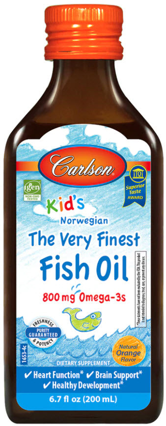 Carlson Kid's The Very Finest Fish Oil Orange 200ml (800mg Omega-3)
