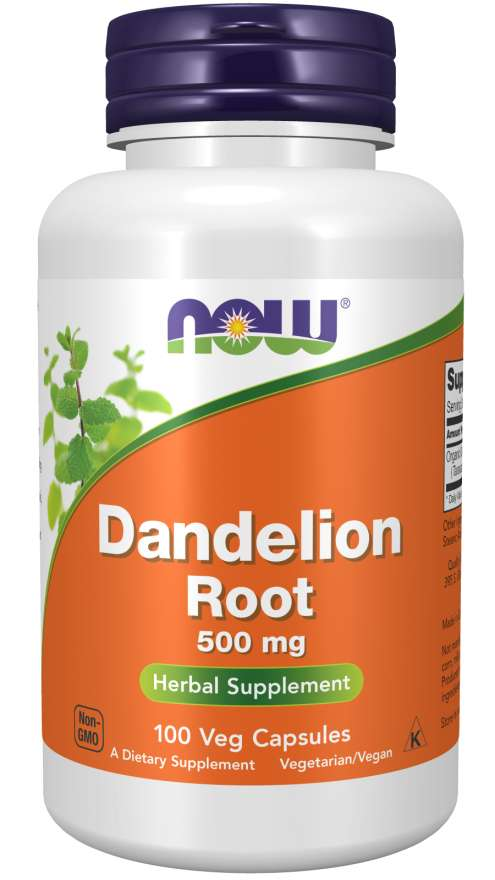 Now Dandelion 500mg 100 VCapsules