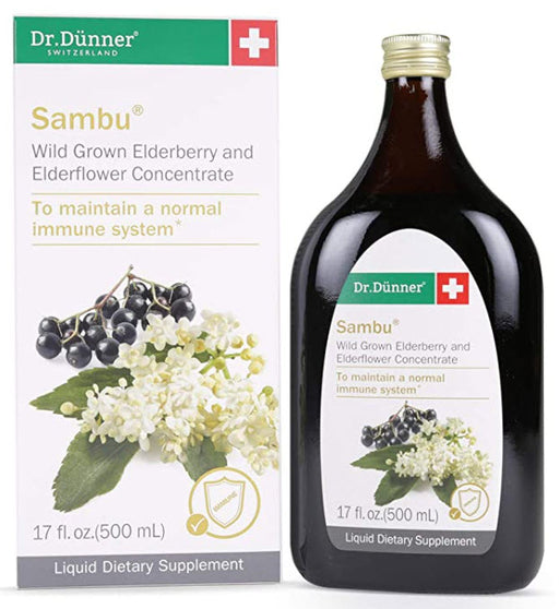 Dr. Dunner Sambu Wild Grown Elderberry & Elderflower Concentrate 500ml