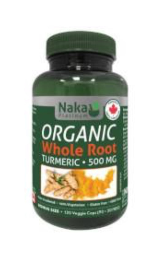 Naka Platinum Whole Root Turmeric 500 mg 120 Vegetarian Capsules
