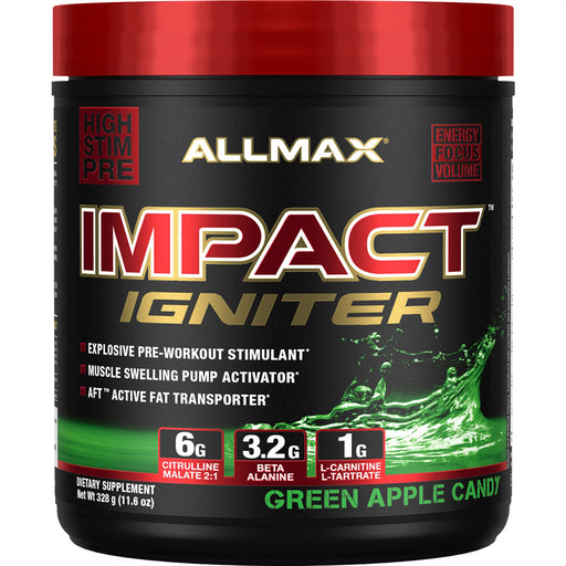 Allmax Impact Igniter 328g Green Apple Candy