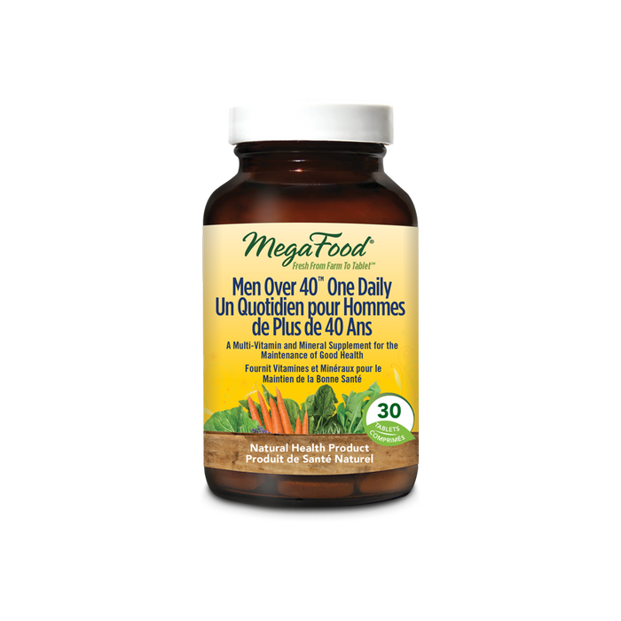 MegaFood Men Over 40 One Daily 30 Tablets