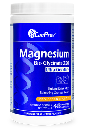 Can Prev Magnesium BisGlycinate Ultra Gentle Orange Zest Natural Drink Mix