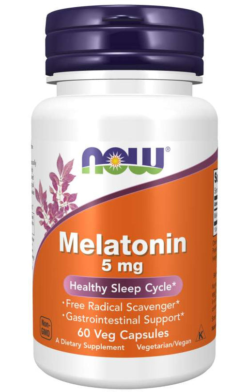 Now Melatonin 5mg 60 Veg Capsules