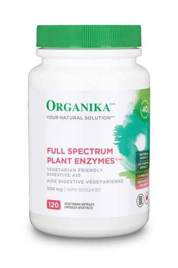 Organika Full Spectrum Plant Enzymes 500mg 120 vcaps