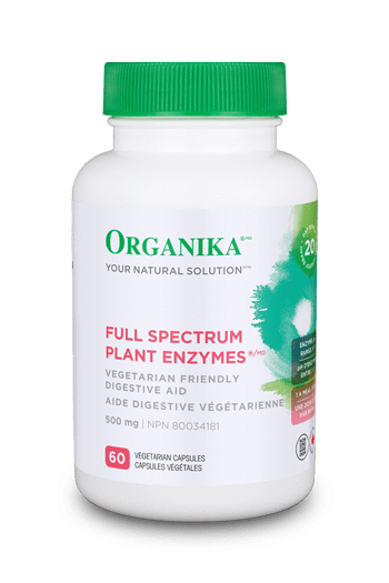 Organika Full Spectrum Plant Enzymes 500mg 60 vcaps