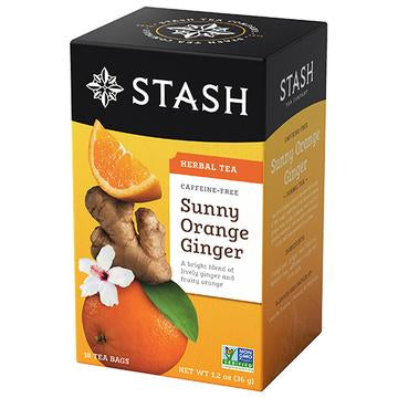 Stash Sunny Orange Ginger Caffeine Free Herbal Tea 18 Bags