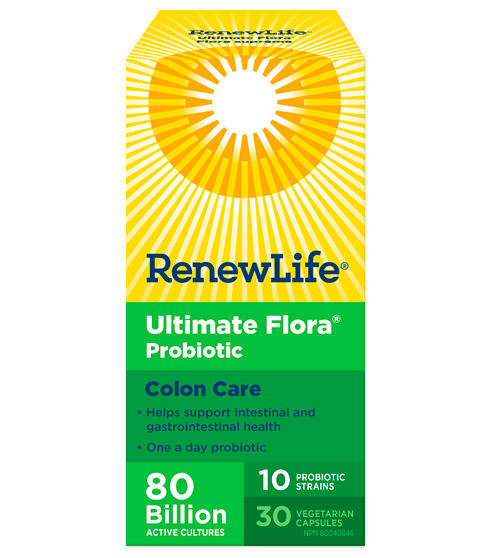 Renew Life Ultimate Flora Colon Care 80 Billion 30 VCaps