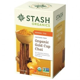 Stash Organic Gold Cup Chai Caffeine Free Herbal Tea