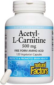 Natural Factors Acetyl-L-Carnitine 500mg 60 v caps