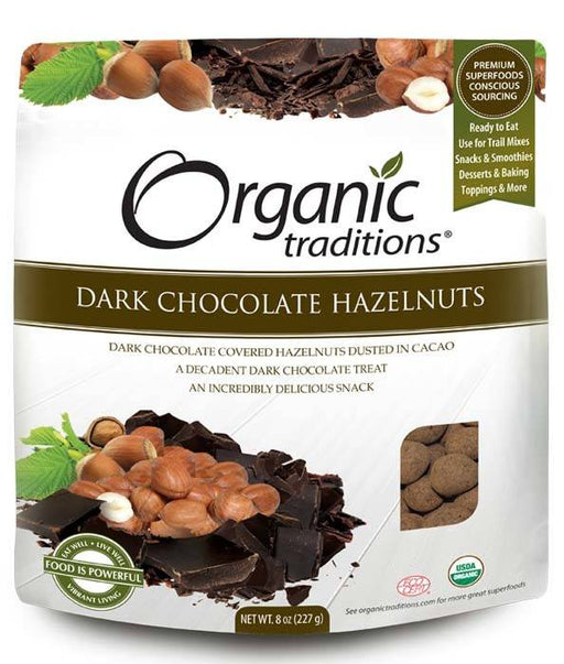 Organic Traditions Dark Chocolate Hazelnuts 227g