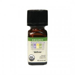 Aura Cacia Organic Vetiver Essential Oil 7.4ml