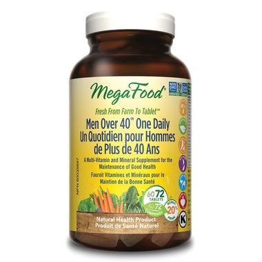 MegaFood Men Over 40 One Daily 72 Tabs