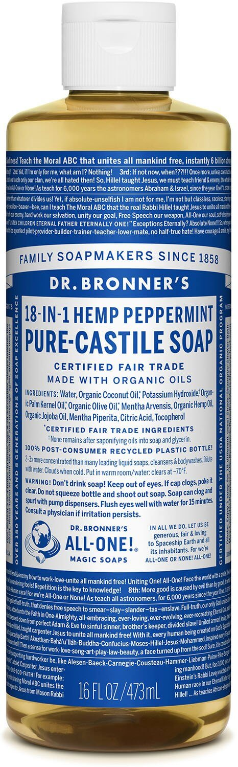 Dr Bronners Pure Castile Liquid Soap Peppermint