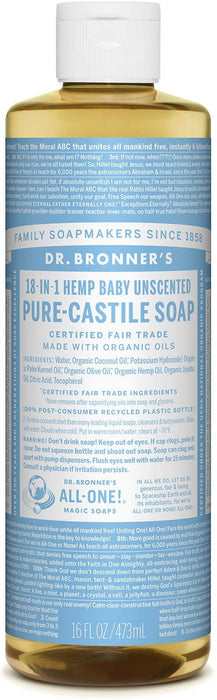 Dr Bronners Pure Castile Liquid Soap Unscented