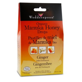 Wedderspoon Manuka Honey Drops Ginger 120g