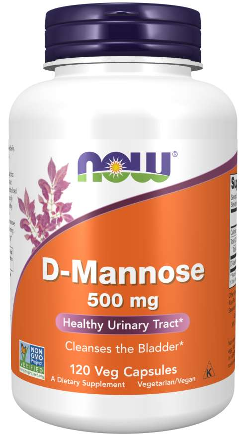 Now D-Mannose 500mg 120 Veg Capsules