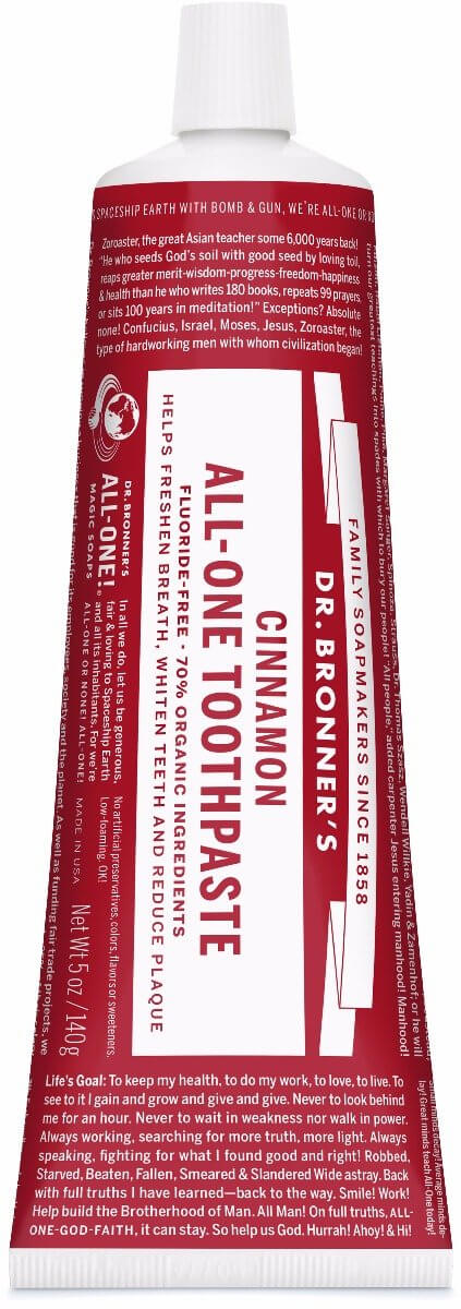 Dr Bronners All-One Toothpaste Cinnamon