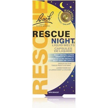 Bach Rescue Night Liquid Melts 28 Caps