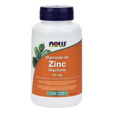 Zinc Glycinate 30mg 120 Softgels