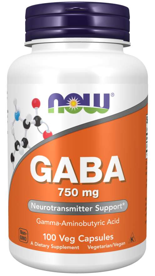 Now GABA Extra Strength 750mg 100 Veg Capsules