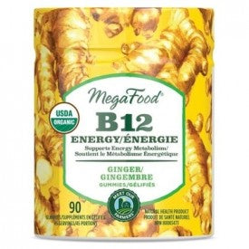 Mega Food Vitamin B12 Energy Ginger 90 Gummies